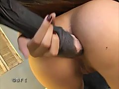 Horse sex - cum in her ass